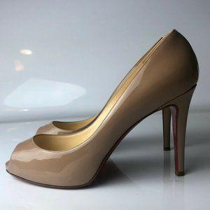 Christian Louboutin Flo 100 Tan Nude Heels 36.5